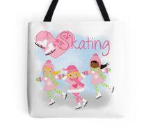 Girls Ice Skating Winter I Love Skating Tote Bag