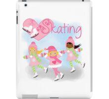 Girls Ice Skating Winter I Love Skating iPad Case/Skin