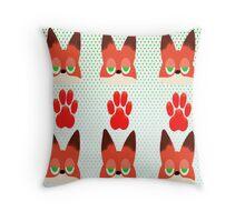 Dumb Fox Throw Pillow
