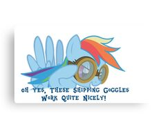 Shipping Goggles Canvas Print