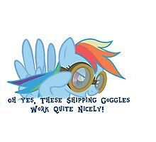 Shipping Goggles Photographic Print