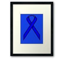 Blue Standard Ribbon Framed Print