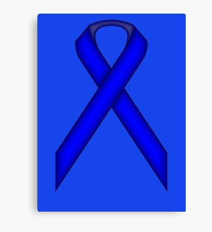 Blue Standard Ribbon Canvas Print