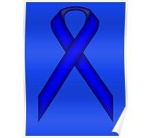 Blue Standard Ribbon Poster