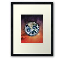 Planet Earth In Space Framed Print