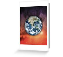 Planet Earth In Space Greeting Card