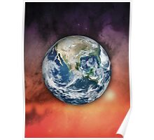 Planet Earth In Space Poster