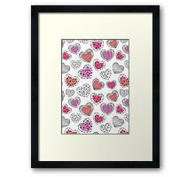Hearts graphic pattern Framed Print
