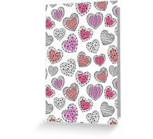 Hearts graphic pattern Greeting Card