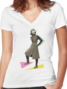 Shapely Figure Women's Fitted V-Neck T-Shirt