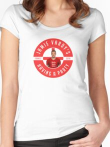 Jamie Vardy's Having A Party Women's Fitted Scoop T-Shirt