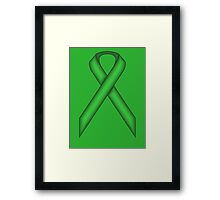 Green Standard Ribbon Framed Print