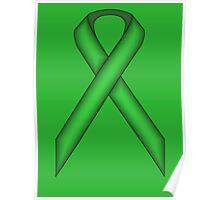 Green Standard Ribbon Poster