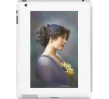 Colorized Vintage Young Beauty V iPad Case/Skin