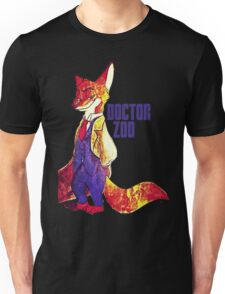 Doctor Zoo: Zootopia/Doctor Who Nick Wilde Crossover Unisex T-Shirt