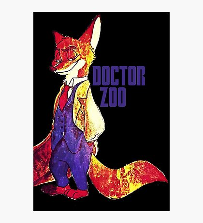 Doctor Zoo: Zootopia/Doctor Who Nick Wilde Crossover Photographic Print