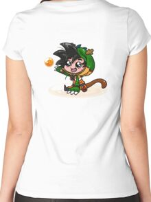 Lil' Dragon Goku Women's Fitted Scoop T-Shirt
