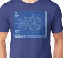 Star Trek - NCC-1701-D Top View Unisex T-Shirt