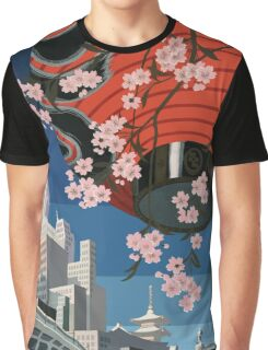 Come to Tokyo 1930s Travel Poster (PD) Graphic T-Shirt