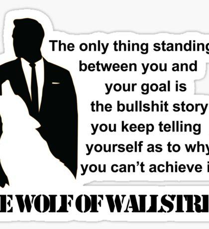 Leonardo Di Caprio - The wolf of Wallstreet Sticker