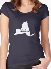 New York Home NY Made NYC  Women's Fitted Scoop T-Shirt