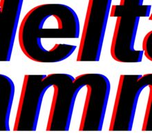 3D Delta Gamma Sticker