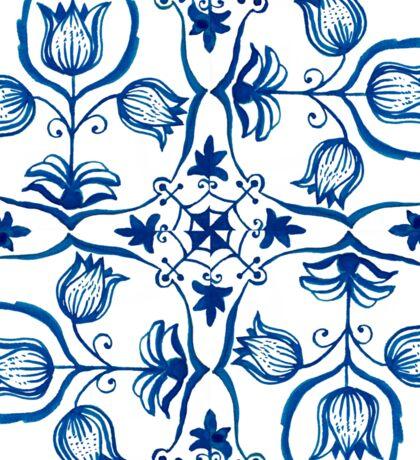Delft Blue Tulips Sticker