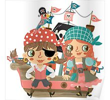 Talk Like a Pirate Pirate's Day Girl Pirates Poster