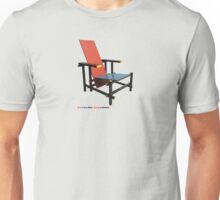 Red & Blue 'Rietveld' Chair Unisex T-Shirt