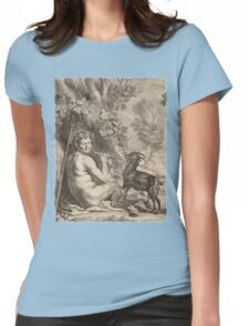 Pan playing Flute Womens Fitted T-Shirt