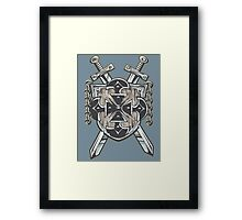 Hero's Coat of Arms Framed Print