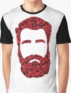 Flower Beard Graphic T-Shirt