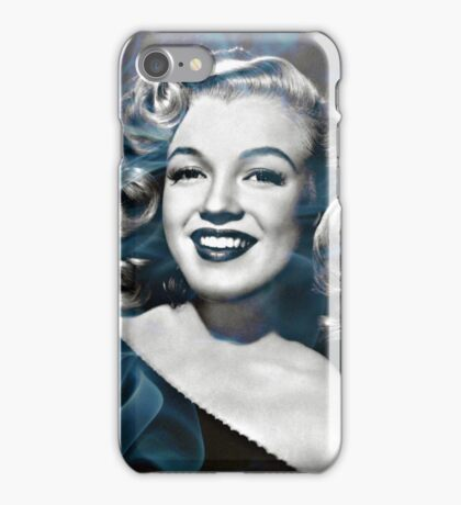 Marilyn Monroe with a bit of smoke iPhone Case/Skin