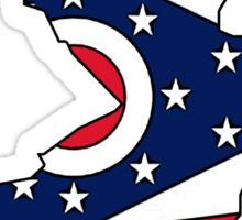 Ohio flag New Jersey outline Sticker