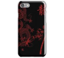 Japanese Drawing with Kanji for Dragon iPhone Case/Skin