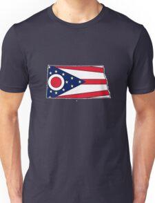 Ohio flag North Dakota outline T-Shirt