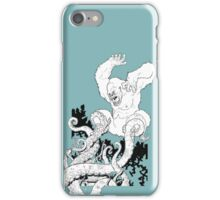 Gorilla/Tentacle Fight! iPhone Case/Skin
