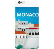 Monaco, France - Skyline Illustration by Loose Petals iPhone Case/Skin