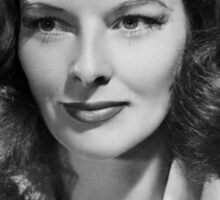 Katharine Hepburn, actress, 1941 Sticker