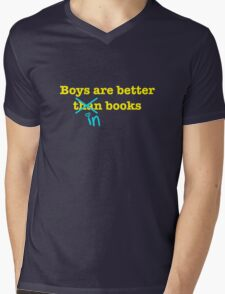 Boys Are Better In Books Mens V-Neck T-Shirt