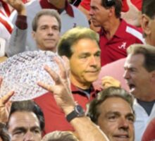 Nick Saban Collage Sticker