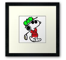 Snoopy Joe Cool and Golf Framed Print