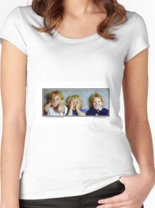 The Three (Wise?) Monkeys Women's Fitted Scoop T-Shirt