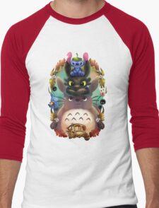 Totoro lilo Men's Baseball ¾ T-Shirt