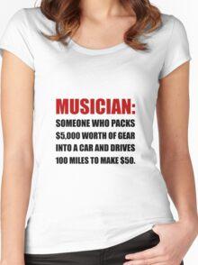 Musician Joke Women's Fitted Scoop T-Shirt