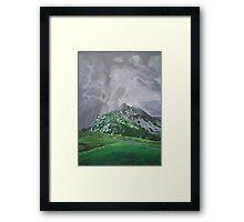 Mountain Landscape Acrylic Painting Framed Print