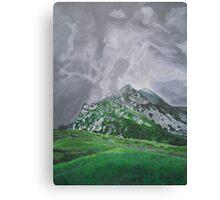 Mountain Landscape Acrylic Painting Canvas Print