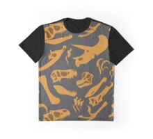 Dinosaur Bones (Grey) Graphic T-Shirt