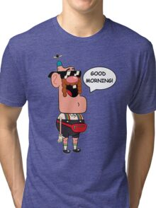 Uncle Grandpa, Good Morning Tri-blend T-Shirt