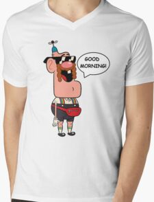 Uncle Grandpa, Good Morning Mens V-Neck T-Shirt